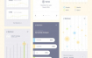 40个高品质的扁平化风格的完整的app界面ui设计素材下载