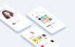 时尚小清新的app界面设计精品素材源文件下载