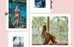 68款孟菲斯风格时尚社交媒体banner设计模板PSD分层素材
