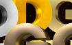 12款逼真金属质感字体样式PSD分层素材 -资源大小518MB,包含11个PSD源文件,1个ASL样式文件