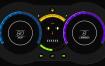 9款独特的汽车仪表板UI设计矢量素材下载
