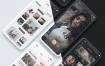 22个界面2种风格100+个高度可定制的ui设计元素移动社交媒体app应用界面UI设计素材下载,(含PSD和sketch源文件)