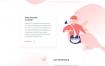 4款清爽小清新网站首页网页模板家居商务时尚渐变色PSD设计素材源文件