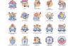 88智能技术包括城市家庭能源互联网等ui设计图标素材下载
