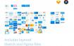 超过80个界面,30个图标和ui设计元素简约扁平化风格的UI工具包素材下载(含sketch和fig源文件)
