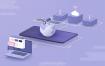 6款数据传输2.5D互联网三维插画网页UI设计APP引导页设计素材优质设计素材下载