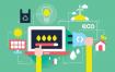 13款数字化营销科技扁平化风格UI网页设计插图APP插画AI矢量素材