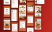 38个完整的美食餐厅餐饮app界面设计UI工具包素材下载(含sketch和psd源文件)