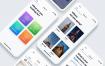 简洁清爽的用于租赁房间的iOS App UI工具包素材下载(含sketch和XD源文件)
