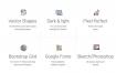 12个界面和300多个设计元素的网页设计UI工具包Web UI Kit的多用途模板素材下载(含psd和sketch源文件)