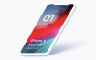 21款苹果iphoneXs max黑色白色手机模型贴图样机PSD模版素材