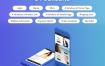 清爽的电子商务购物UI界面设计套件源文件下载