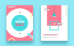 15款国外精品小清新海报封面模板PSD素材源文件打包下载