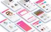 20个时尚电子商务小清新app界面ui设计素材下载,提供sketch格式的源文件下载