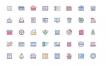 40个扁平化小清新图标素材下载