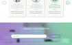 4款多彩小清新极简主义教育学网页PSD分层模版素材