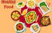 25款中西餐美食餐年夜饭饮料理场景矢量扁平插画素材