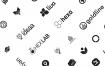 25+扁平化专业APP应用图标ui设计徽标优质设计素材下载