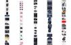 36款电商淘宝天猫男女箱背包皮包收纳拉杆箱详情页图装修模板psd素材