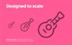 64个优质创意的音频图标ui设计素材下载
