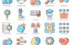 60人工智能平面图标素材下载