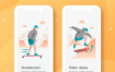 10款健身插画瑜伽游泳登山轮滑插图运动普拉提海报H5模板AI设计素材