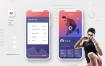 20款优质面试毕业设计作品运动健身APP样机效果单页风格展示iphone手机UI界面PSD设计素材下载