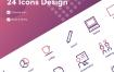 24个商业和会计图标设计素材下载