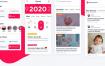 14个简洁的社交应用平台优质设计素材下载(提供Sketch格式下载)