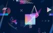 12款外国创意渐变荧光H5引导闪屏封面DM卡片海报UI背景设计矢量图素材