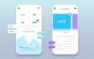 53套UI设计面试作业作品扁平手机APP交互界面PS模板PSD分层源文件素材