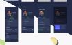 160个金牌餐厅应用app界面ui设计优质设计素材下载(提供Adobe XD格式下载)