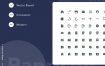 82个ui设计基础图标集优质设计素材下载