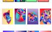 47款创意网站ui模板抽象背景彩色渐变几何抽象海报舞台背景展板Ai素材