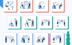 20个优质的启动页引导页网站主图扁平设计Fintech插图优质设计素材下载