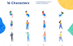 16个办公室插图优质设计素材下载