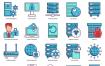 100个矢量图标为web数据库云托管虚拟主机图标优质设计素材下载