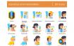 65种疫苗接种图标设计素材下载