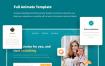 清新的创意实验室医学健康网站设计素材下载