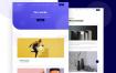 12个简洁现代的着陆页面设计优质设计素材下载