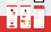 40+的比萨外卖应用的iOS iPhone X界面设计优质设计素材下载(提供sketch格式源文件)