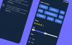 80多个带暗黑模式风格现代活力app设计优质设计素材下载(提供sketch格式源文件)