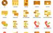 80个通信图标设计素材下载