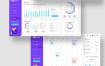 紫色系后台数据管理现代的Web应用界面优质设计素材下载