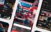 70个带暗黑模式风格食品外卖app界面UI工具包优质设计素材下载(提供Adobe XD和sketch格式源文件)