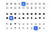20用户界面图标在3种样式(线,实线,双色调)图标集优质设计素材下载