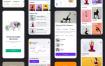 36个瑜伽运动健身优秀项目app设计素材下载