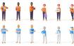 80个不同形态的3d设计人物素材下载