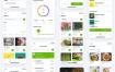 33个优质在线食品杂货店和食谱UI工具包设计素材下载
