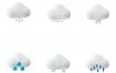 50多个天气立体图标设计素材下载毛玻璃